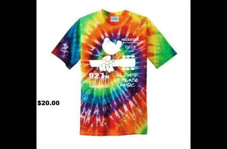 Limited Edition, Custom, Tye Dye, Woodstock 50th T-Shirt!